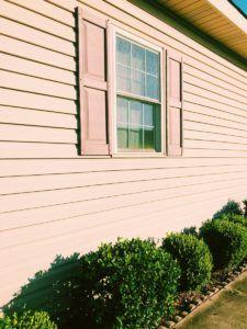 close up of siding of Florida home